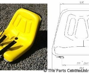Compact Forklift Seat c/w Runners